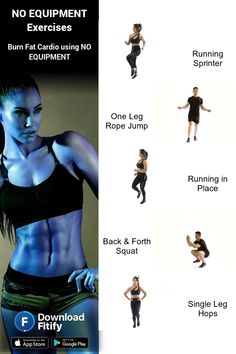 Cardio workouts without equipment by Fitify NO EQUIPMENT Cardio Training Routine Session consisting of lowintensity aerobic exercises Should be performed for a longer dur. Workouts Without Equipment, No Equipment Workout, Gym Workouts, At Home Workouts, Personal Training Courses, Plie Squats, Six Pack Abs Workout, Flexibility Workout, Training Plan