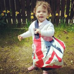 Thanks Maxine Moore! You couldn't have picked a cuter model for your new Royal Union Jack Pom Pom Changing Bag! Thanks to everyone who took part in the big giveaway! Share yours with us, just hashtag #OBABYUK