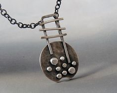 Sterling silver necklace - Silver necklace - Sterling silver pendant - Granulated pendant - Oxidized necklace - Handcrafted by Kailajewellery on Etsy https://www.etsy.com/listing/175164657/sterling-silver-necklace-silver-necklace