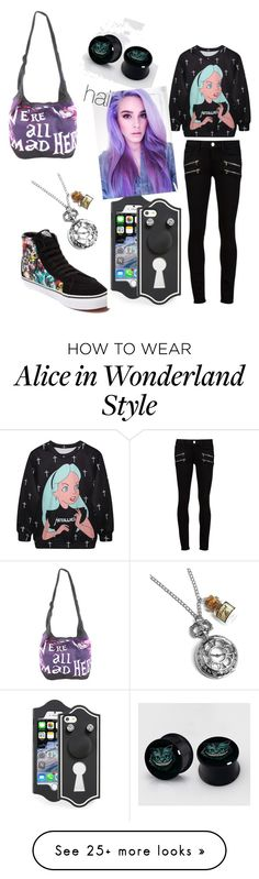 """alice in wonderland"" by shadow61 on Polyvore featuring Paige Denim, Marc by Marc Jacobs and Disney"