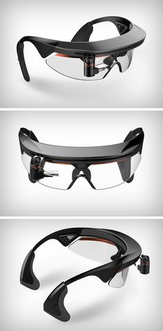 The Ergonomic Smart Goggles allow bikers to have an easy to access HUD display to help them navigate through maps.