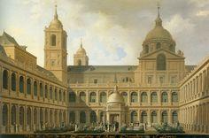 Fernando Brambilla: Vista del Patio de los Evangelistas del Real Monasterio…