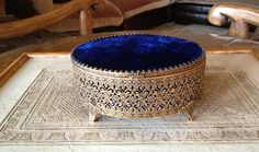 Stunning Vintage Ormolu Box Covered In Vintage by platinumrain, $40.00
