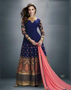 #Designer #Navy #Blue #Georgette #Anarkali #Suit #nikvik  #usa #designer #australia #canada #freeshipping
