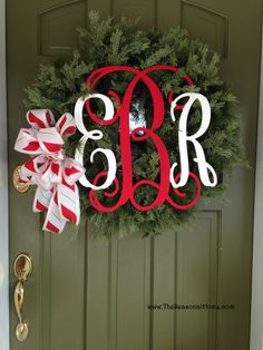 peppermint wreath