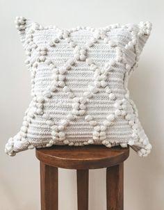 White Boho Diamond Knotted Pillow Cover White Bohemian | Etsy Indian Pillows, Boho Throw Pillows, Boho Cushions, Bohemian Pillows, Cushion Covers, Pillow Covers, Diamond Knot, Knot Pillow, White Bohemian