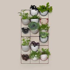 Wallment wire grid herb wall | Scandinavian Style | Nordic Design | vertical garden