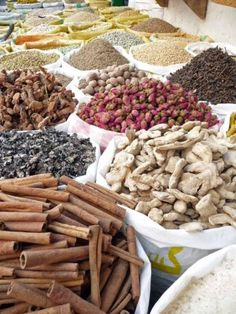 Spices in one of the shops of the Old City - Tripoli.