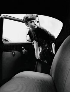 feathermagazine: Audrey even enters cars with class. Follow @feather_mag on Twitter!