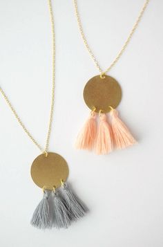 DIY Gold Tassel Neck  DIY Gold Tassel Necklace!