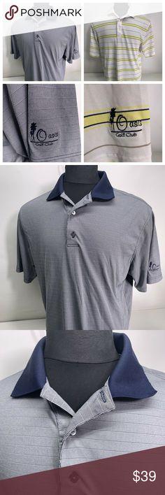89e6275165c Two FootJoy Golf Polo Shirts - Oasis GC Logo FootJoy Two men's short sleeve  knit polo