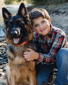 GSD Dogs And Kids, Animals For Kids, German Shepherd Puppies, Family Dogs, Gods Love, Cute Babies, Dog Cat, Terrier, Couple Photos