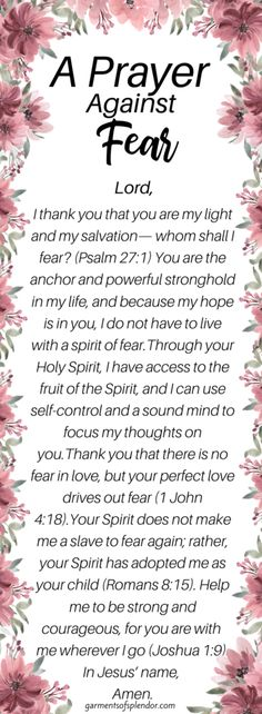 12 Powerful Scriptures to Pray against Fear -