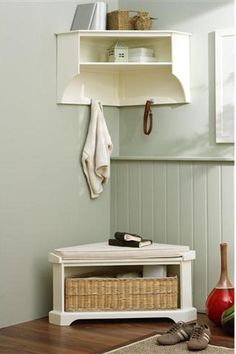 When decorating a small apartment (or a small room) don't forget to use corners.