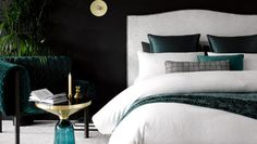 The Fulham is one of our best-selling bedheads for very good reason. It's luxury without the pretension, perfect for a relaxed, stylish bedroom collection. Emerald Bedroom, Bedhead Design, Master Bedroom, Bedroom Decor, Bedroom Ideas, Blue Bedroom, Bedroom Inspo, Bedroom Inspiration, Bedroom Furniture