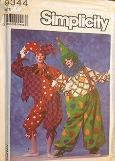 Simplicity 9344 Jester Clown Costume Sewing Pattern Adult Size Medium Vintage 1980s Simplicity http://www.amazon.com/dp/B00N491IFA/ref=cm_sw_r_pi_dp_eRmaub03CSWRM