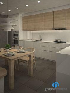 Con la #reforma de #cocina, la estancia mejorará tanto su imagen como su equipamiento. #3D #interiorismo #Barcelona