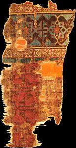 Historical Seljuk / Seljuq rugs and carpets Historical Beyshehir Seljuq rug fragment, 1200s, Mevlana Museum, Konya