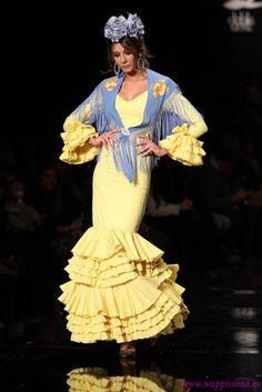 Traje de #Flamenca - Hermanas Serrano - #Simof 2015