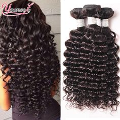 7A Brazilian Deep Curly Virgin Hair Rosa Hair Products Brazilian Deep Wave 4 Bundles Brazilian Hair Weave Bundles Human Hair *** Click image for more details.