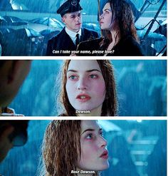 Jack Dawson and Rose Dawson ღ U will never understand How happy I was to hear her say that! Titanic Movie Facts, Titanic Quotes, Leo And Kate, Jack Dawson, Young Leonardo Dicaprio, Movie Lines, Rms Titanic, Romance Movies, Kate Winslet