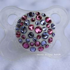 Periwinkle Pink Glitzy Pacifier #RitzyGlitzyBaby $20 ON SALE