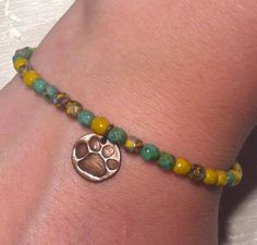 Paw Print for Charity Bracelet ONE Petite by GlassOnionJewelry, $15.00