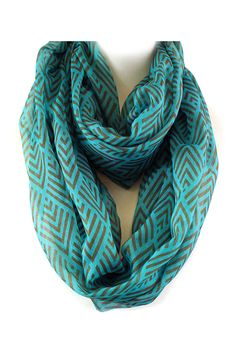 Averly Infinity Scarf in Teal.