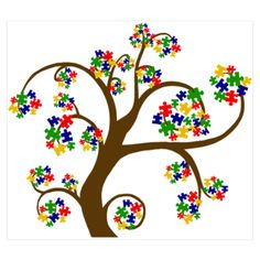 autism --I LOVE THIS PRINT!!! I may have to order it!! FRAME IT FOR THE BOYS ROOM WITH THEIR NAMES (TREE OF LIFE)