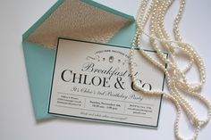 Breakfast at Tiffany's Themed Party- Invitations by Erika Keuter Designs
