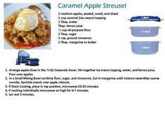 Tupperware Pressure Cooker Recipes, Tupperware Recipes, Apple Streusel, Apple Slices, Ground Cinnamon, Apple Recipes, Caramel Apples, Lemon, Ice Cream