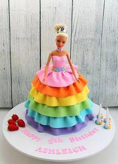 Rainbow princess cake