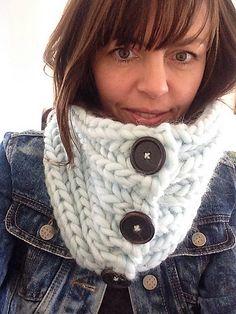 Brioche Stitch Cowl pattern by Leanne Wilkinson. malabrigo Rasta in Natural