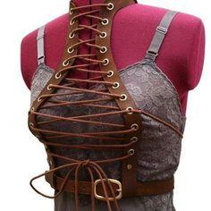 Bolero Lace Underbust Harness Vest Victorian Steampunk corset lace burning man playa wear