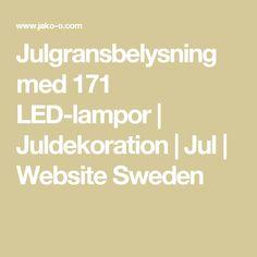Julgransbelysning med 171 LED-lampor | Juldekoration | Jul | Website Sweden