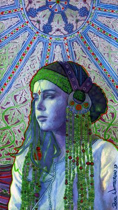 Psychedelic Goddess Art Poster by PearlWhitecrow on Etsy, $20.00