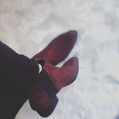 BURGUNDY shoes H&M