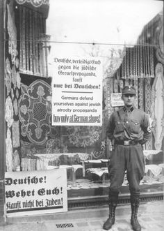 The early attempts to get (Aryan, of course) Germans to boycott Jewish stores and goods in Nazi Germany in the interwar years, sometime around 1934.