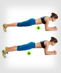 Plank Jumping Jacks  http://www.womenshealthmag.com/fitness/plank-exercise/plank-jumping-jacks