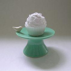 Whitney Smith's Bird Cupcake Stand, whitneysmith on Etsy