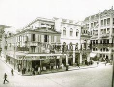 Rua dos Andradas (Rua da Praia) no centro de Porto Alegre nos anos 30.