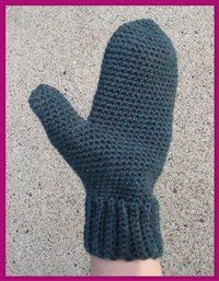 Crochet Gloves ~ free pattern for sizes kid to adult
