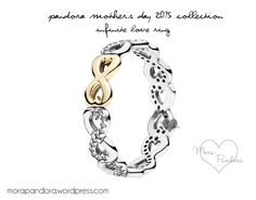 Pandora Mother's Day infinity stack ring- YES PLEASE. If anyone wants to buy me a present just because, THIS. stacked with my new nest ring