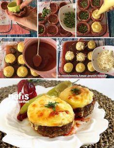 - - Pratik Hızlı ve Kolay Yemek Tarifleri Turkish Recipes, Ethnic Recipes, Wie Macht Man, Eastern Cuisine, Iftar, Meatball Recipes, Food Blogs, Lunch Recipes, Snacks