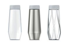 Details we like / Bottles / Containers / Steel / Glass / pattern / Lineup / at… Id Design, Shape Design, Glass Design, Pattern Design, Objet Deco Design, Water Bottle Design, Pet Bottle, Spray Bottle, Tumbler Designs