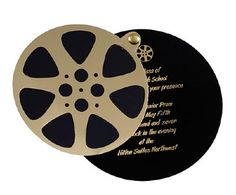 Film Canister Invitation - Hollywood, Oscar or Movie Party. or make it into a wedding invite! or save the date! Deco Cinema, Cinema Party, Hollywood Glamour Party, Hollywood Theme, Movie Themes, Party Themes, Party Ideas, Kino Party, Hollywood Invitations