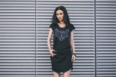 CUB lookbook spring/summer 2014 #polishfashion #fashion #cub #cub_wear #summer #cotton #natural #wild #grey #black #girl #concrete #industrial #look #city #dress #free #warior #wolf #logo #tunic