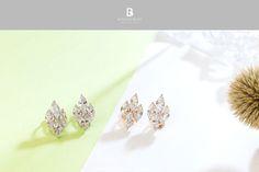 Bonny & Read 平價飾品 - 璀璨人生方鑽夾式耳環 / 2色  NT.271