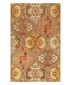 Look at this Multicolor Romantic Tangier Wool Rug on #zulily today!