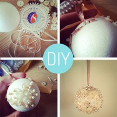 Handmade christmas bauble, so easy!